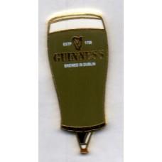 Guiness Pint Glass Medium Size Gold