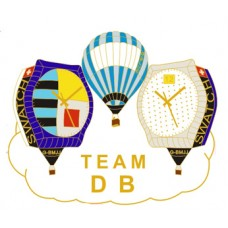 Team DB Swatch watch G-BMJJ and G-BLUE gold