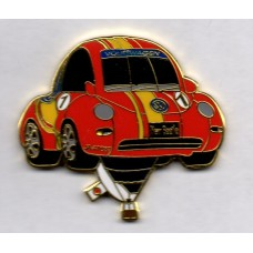 VW Beetle Red JAA1087 Japan Flag Gold